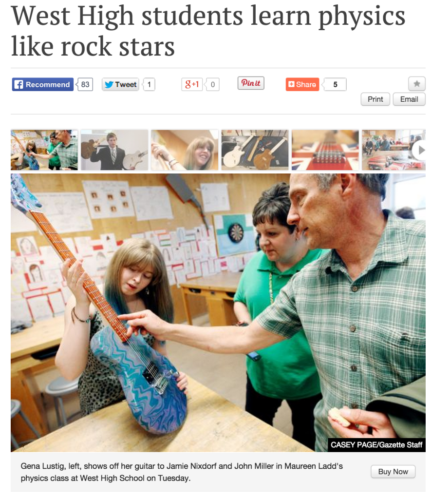 West High students learn physics like rock stars Read more: http://billingsgazette.com/news/local/west-high-students-learn-physics-like-rock-stars/article_1e0562a2-5331-5e64-828d-552ce34a1353.html#ixzz3Ukx2YRSZ