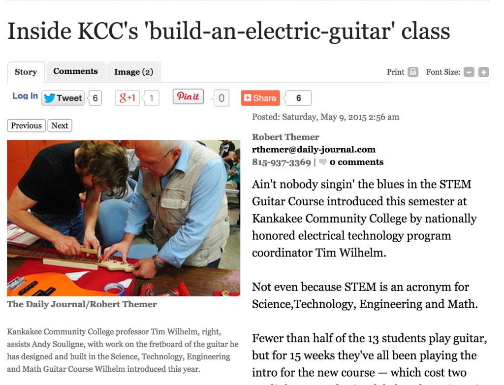 KCC Electric Guitar Build - Daily Journal